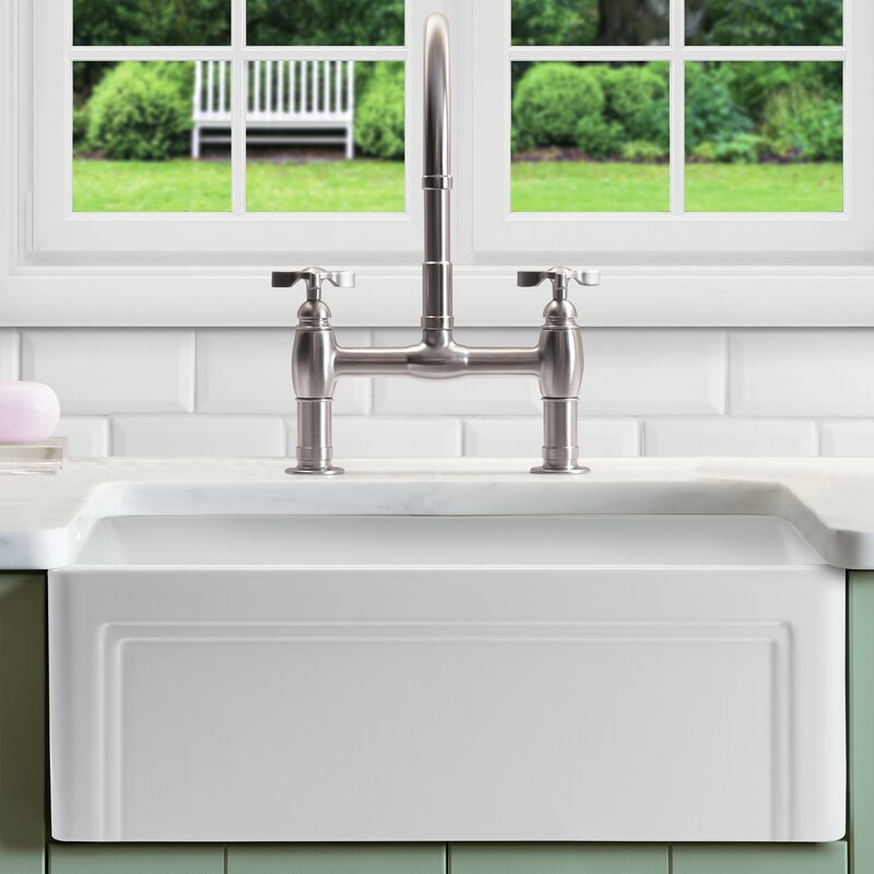 "empire industries olde london 30"" x 18"" farmhouse kitchen sink"
