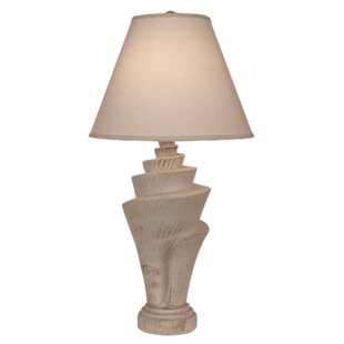 Great deal Janney Conch Shell 34 Table Lamp By Highland Dunes