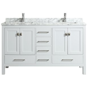 Compare prices Furlow 60 Double Bathroom Vanity Set By Wrought Studio
