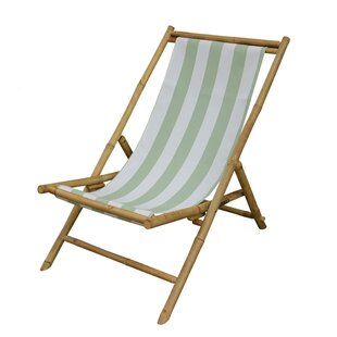 Breakwater Bay Danville Folding Bamboo Relax Sling Beach Chair