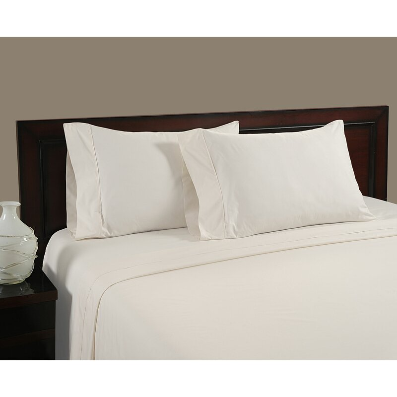 Premier Comfort 400 Thread Count Egyptian Cotton Sateen Sheet Set Queen Ivory