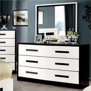 Avers 6 Drawer Double Dresser with Mirror by Brayden Studio
