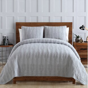 Rope Stitch Polyblend 3 Piece Quilt Set