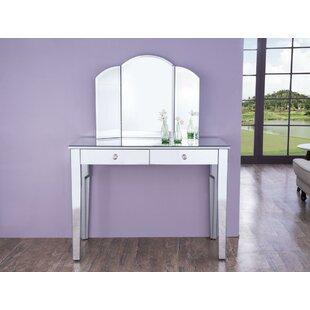 Rosdorf Park Kamron Table Vanity with Mirror