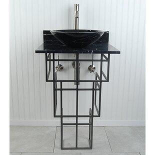 Best Choices Mission Metal 22 Pedestal Bathroom Sink By D'Vontz