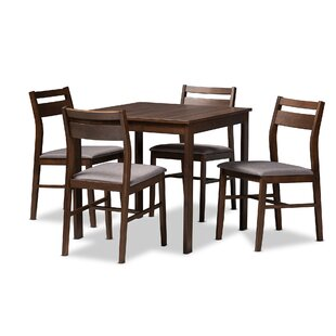 Sours Modern and Contemporary Upholstered 5 Piece Dining Set