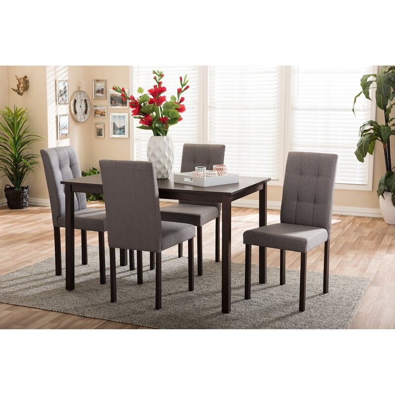 5 Piece Dining Sets wholesale interiors baxton studio 5 piece dining set & reviews
