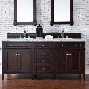 Deleon 72 Double Burnished Mahogany Free-standing Bathroom Vanity Set