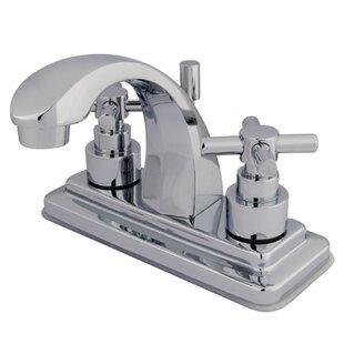 Kingston Brass Elinvar Centerset Bathroom Faucet with Brass Pop-Up Drain Image