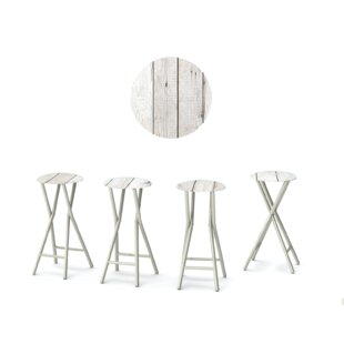 Barn 30'' Patio Bar Stool with Cushion (Set of 4)
