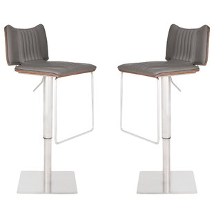 Darwen Adjustable Height Swivel Bar Stool (Set of 2) by Brayden Studio
