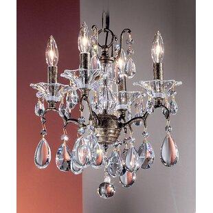 Classic Lighting Garden of Versailles 4-Light Candle Style Chandelier