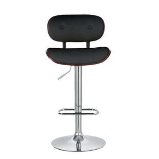 Douglas Button-Tufted Adjustable Height Swivel Bar Stool