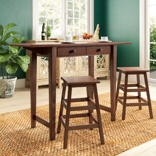 Latson 3 Piece Drop Leaf Dining Set by Three Posts