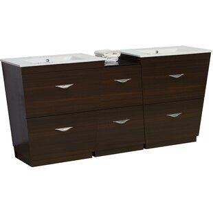 Kao Wood Floor Mount 56 Single Bathroom Vanity Set By Royal Purple Bath Kitchen