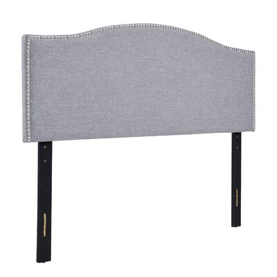 Alethea Upholstered Panel Headboard Upholstery: Gray, Size: Full/Queen