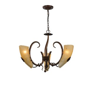 Meyda Tiffany Coil 3-Light Shaded Chandelier
