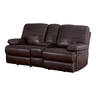 Koehn Leather Reclining Loveseat by Red B..