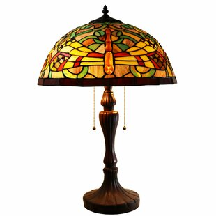 Warehouse of Tiffany Zuwena 2-Light Dragonfly Tiffany Style 16