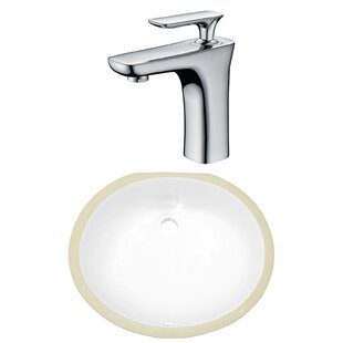 Best Choices CSA Ceramic Oval Undermount Bathroom Sink with Faucet and Overflow ByRoyal Purple Bath Kitchen