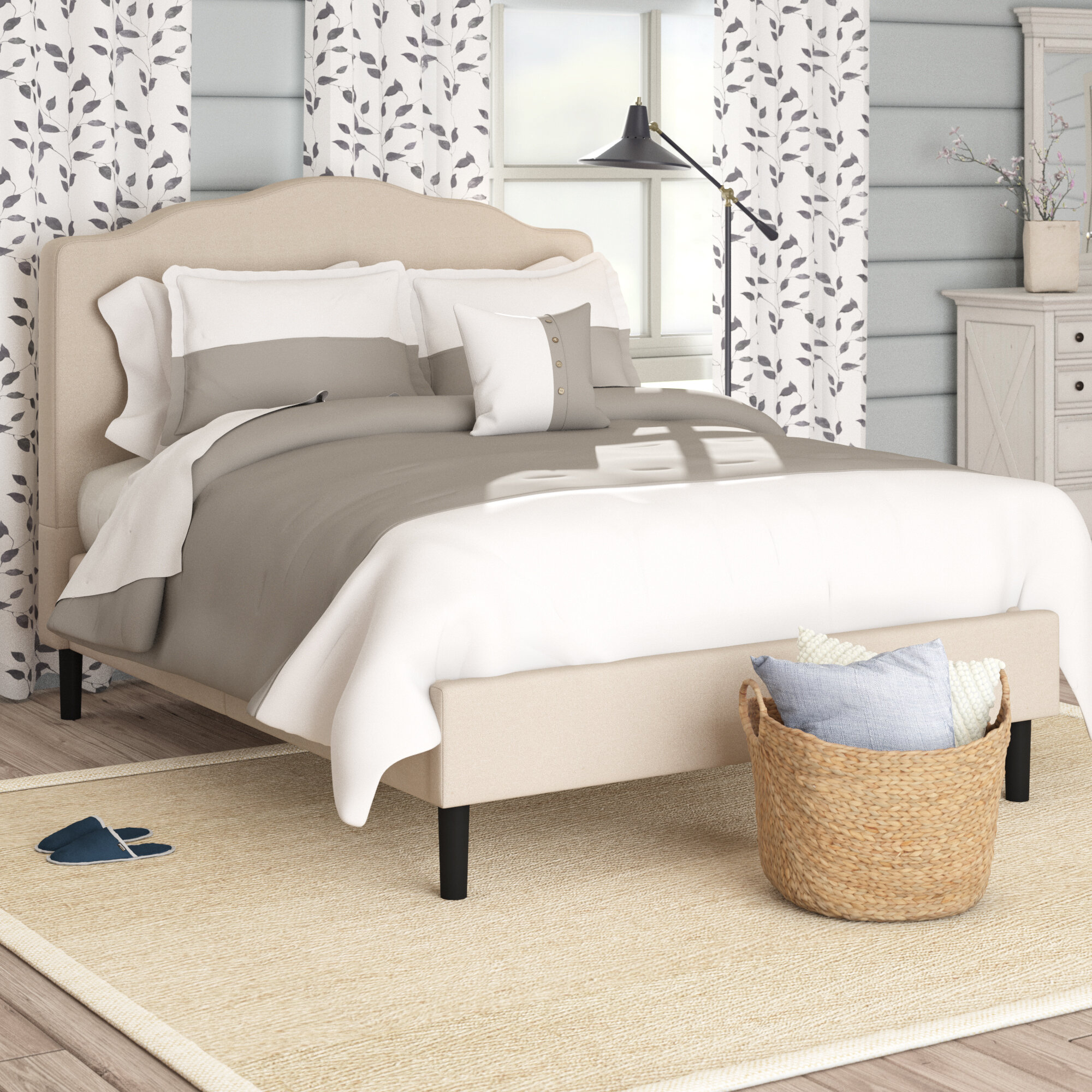 Picture of: Laurel Foundry Modern Farmhouse Hoopeston Upholstered Platform Bed Reviews