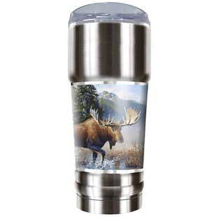 Moose Traditions 32 oz. Stainless Steel Travel Tumbler