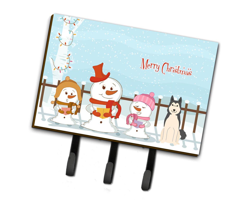 The Holiday Aisle Merry Christmas Carolers West Siberian Laika Spitz Leash Or Key Holder Wayfair