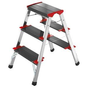 ChampionsLine 3-Step Aluminium Step Stool with 175kg Load Capacity
