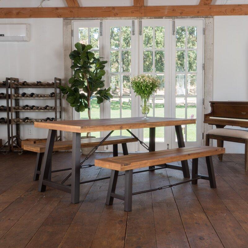 Trent Austin Design Lebanon 3 Piece Wood Dining Set & Reviews   Wayfair