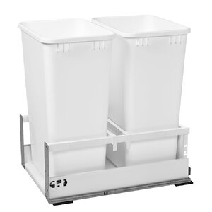 Double 12.5 Gallon Tandem Pullout Trash Cans