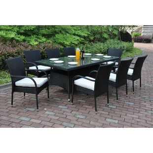 JB Patio 9 Piece Dining Set with Cushions