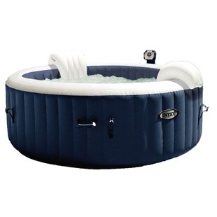Intex 4 - Person 120 - Jet Vinyl Round Inflatable Hot Tub in Blue