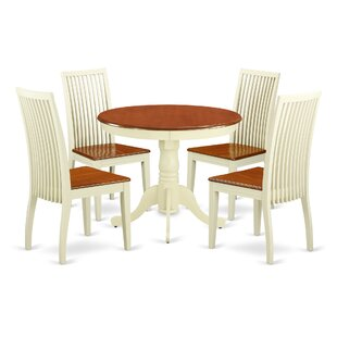 Brendan 5 Piece Breakfast Nook Solid Wood Dining Set