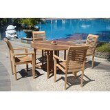 Hussey Luxurious 5 Piece Teak Dining Set