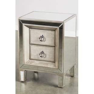 House of Hampton Kavia 2 Drawer Nightstand