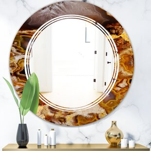 Triple C Sand Close up Modern Frameless Wall Mirror by East Urban Home