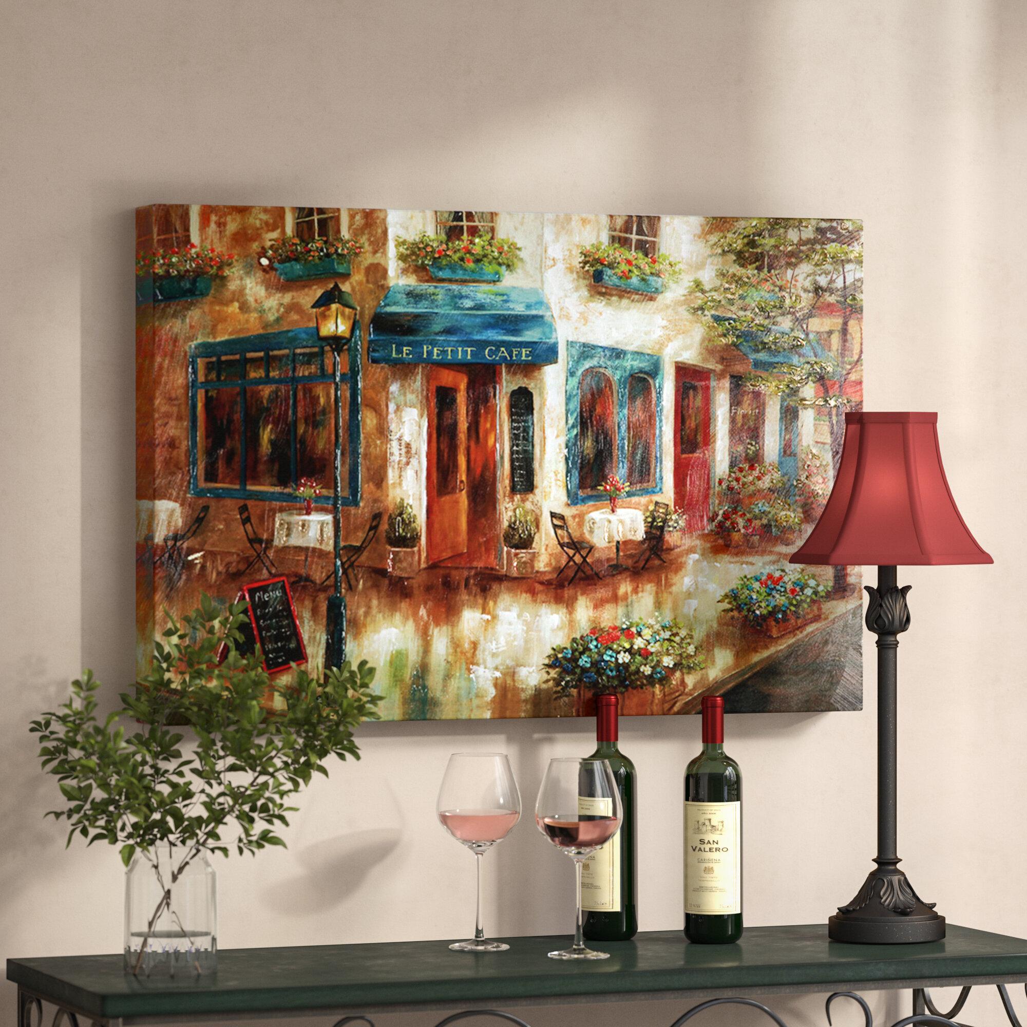 Champagne Flute Rustic Kitchen Distressed Stripes by Milli Villa - Graphic  Art Print