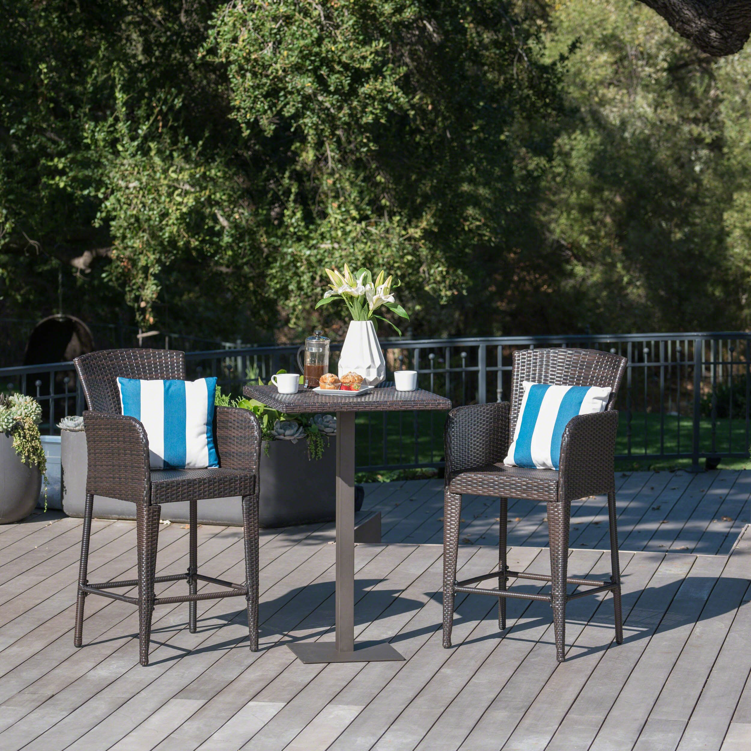 Outstanding Waldhaus 3 Piece Bar Height Dining Set Uwap Interior Chair Design Uwaporg