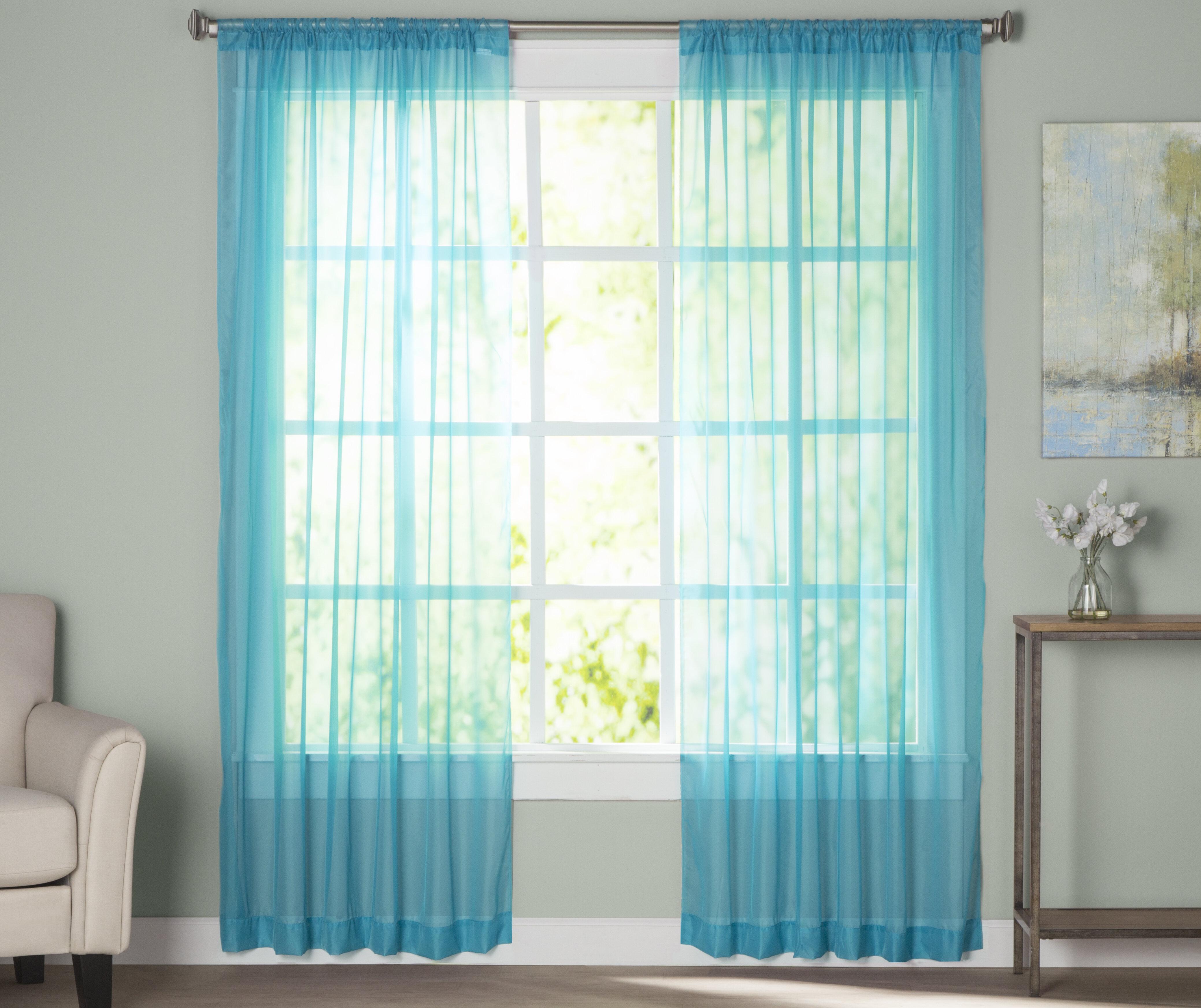 Aqua Curtains Drapes You Ll Love In 2020 Wayfair