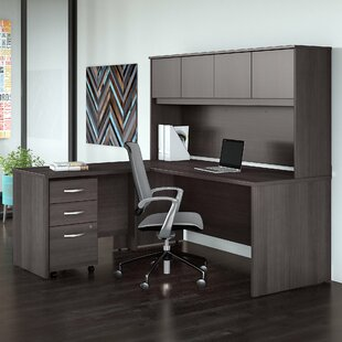 Bush Business Furniture Studio C 4 Piece L Shaped Desk Office Suite