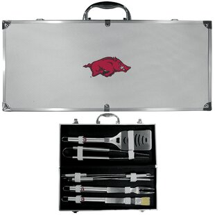NCAA 8 Piece Grilling Tool Set BySiskiyou Gifts