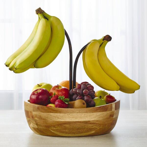 gourmet basics by mikasa vienna fruit bowl with double banana hook  u0026 reviews   wayfair gourmet basics by mikasa vienna fruit bowl with double banana hook      rh   wayfair