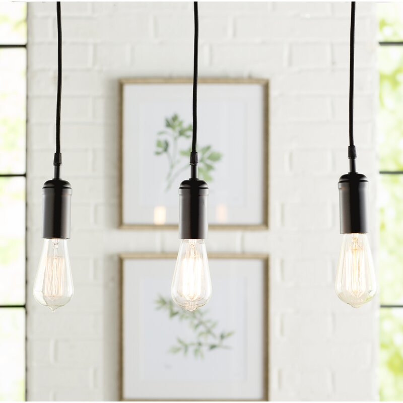 light bulb pendant gold ains 3light bulb pendant trent austin design wayfair