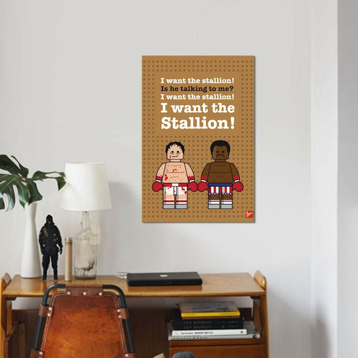 East Urban Home Rocky Lego Dialogue Poster Print On Canvas Wayfair