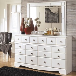 Carrabassett 6 Drawer Double Dresser with Mirror by Beachcrest Home