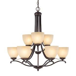 Alcott Hill Farrell 9-Light Shaded Chandelier