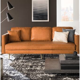 Ainslee 84 Genuine Leather Sofa Reviews Allmodern