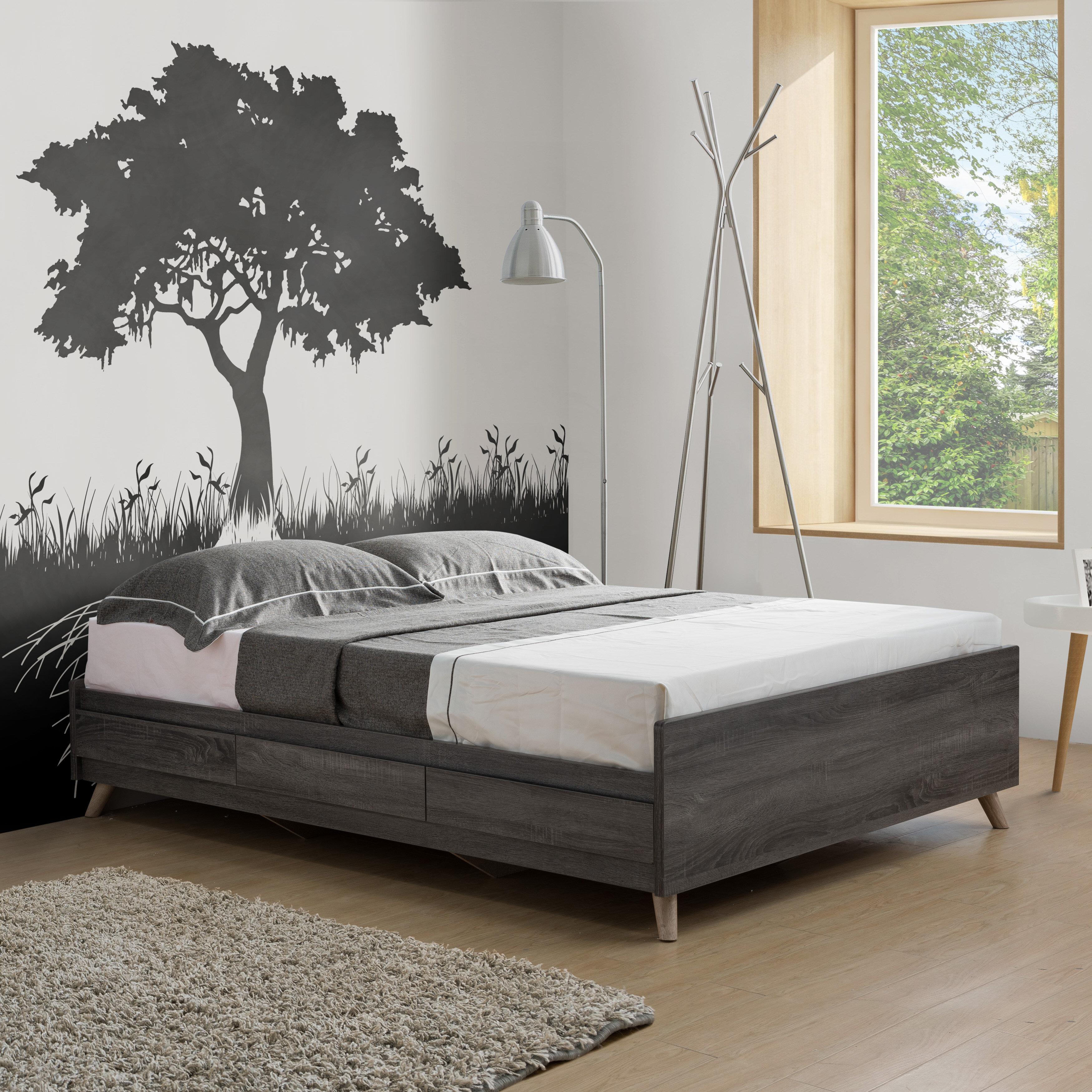 Brayden Studio Urick Low Profile Storage Platform Bed Reviews Wayfair