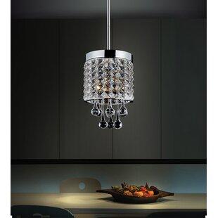 Gem 1-Light Crystal Pendant by CWI Lighting