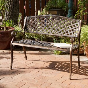 Clifford Cast Aluminum Garden Bench by Alcott Hill